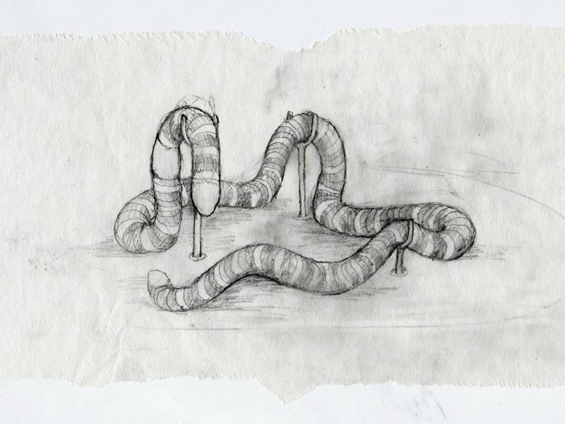 Ouroboros, a worm sculpture